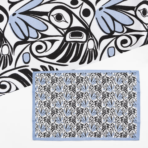 Cotton Tea Towel by Bill Helin, Tsimshian