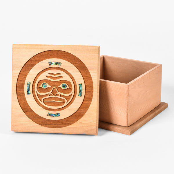 Large Red Cedar Box with Abalone by Spirit Works