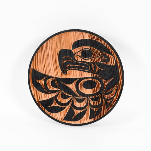 Eagle Red Cedar Panel by Doug Horne, Coast Salish
