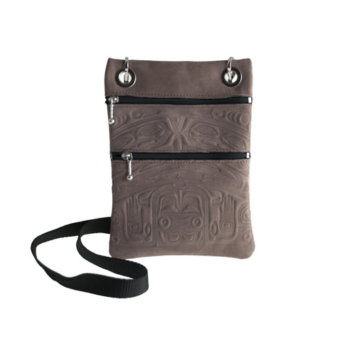 Nubuck Leather Passport Pouch by Clifton Fred, Tlingit