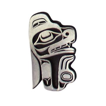 Pewter Magnet by Ernest Swanson, Haida