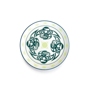 Porcelain Art Plate by Dylan Thomas, Coast Salish
