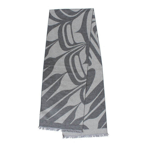 Brushed Silk Scarf by Ryan Cranmer, Kwakwaka'wakw/Namgis