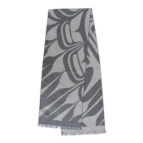 Grey Brushed Silk Scarf