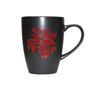 Running Raven - Matte Black Ceramic Mug