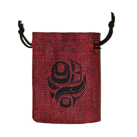 Jute Spirit Pouch by Gordon White, Haida