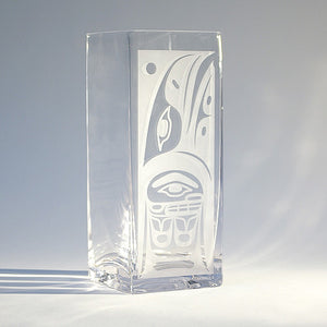 Etched Glass Vase by Steve Smith, Kwakwaka'wakw/Oweekeno