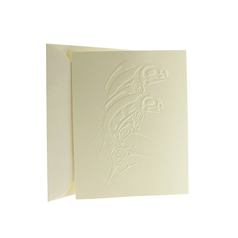 Embossed Salmon Card