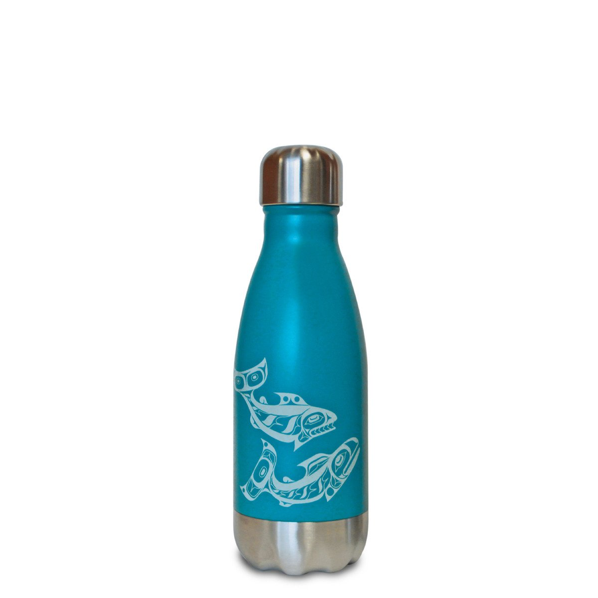 Salmon - Small Turquoise Bottle