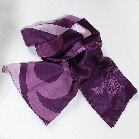 100% Silk Scarf Purple