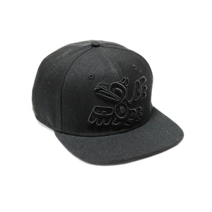 Cotton Twill Snapback Hat by Allan Weir, Haida