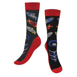 Art Socks by Simone Diamond, Coast Salish