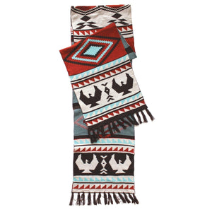 Oversized Knitted Scarf by Leila Stogan, Musqueam/Coast Salish