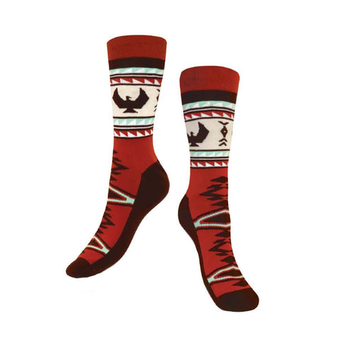 Art Socks by Leila Stogan, Musqueam/Coast Salish