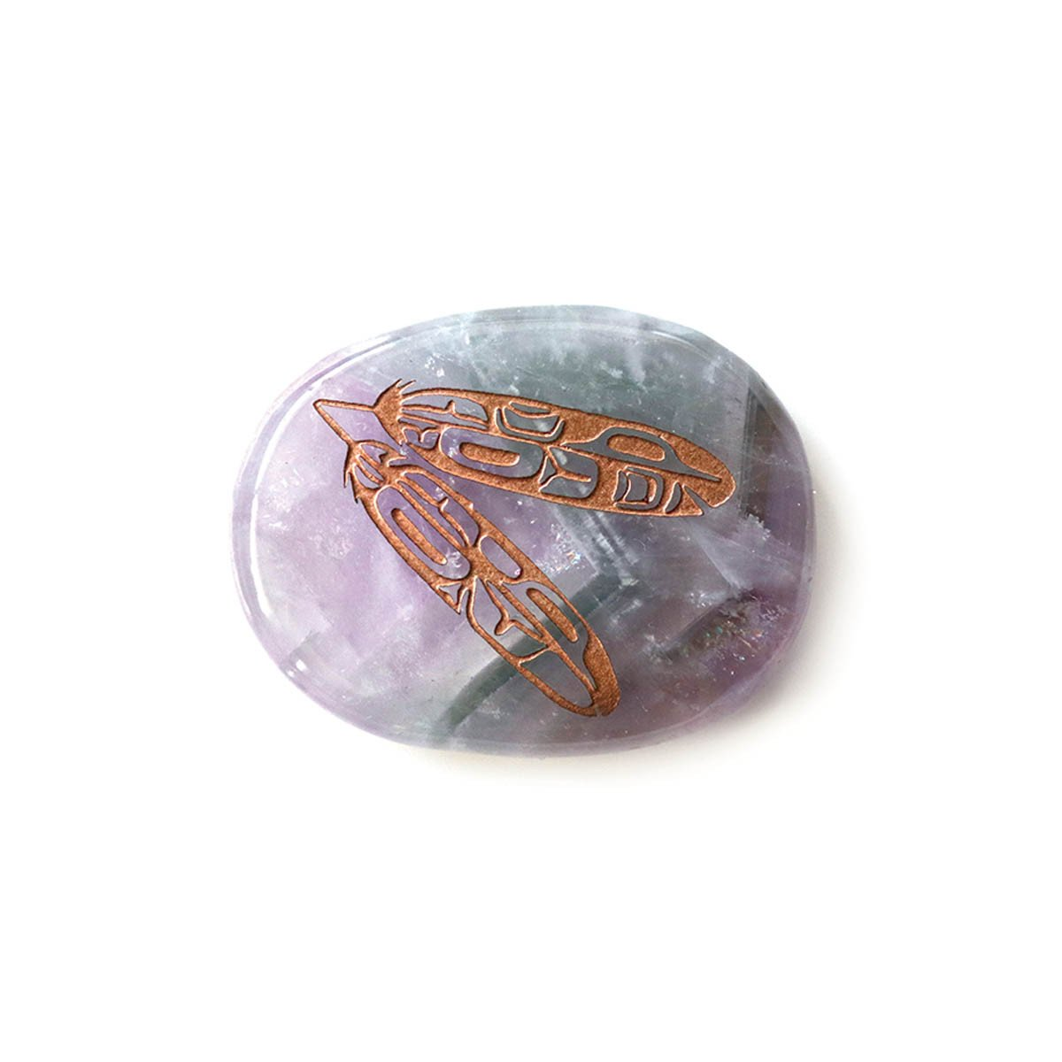 Amethyst Eagle Feathers Spirit Stone