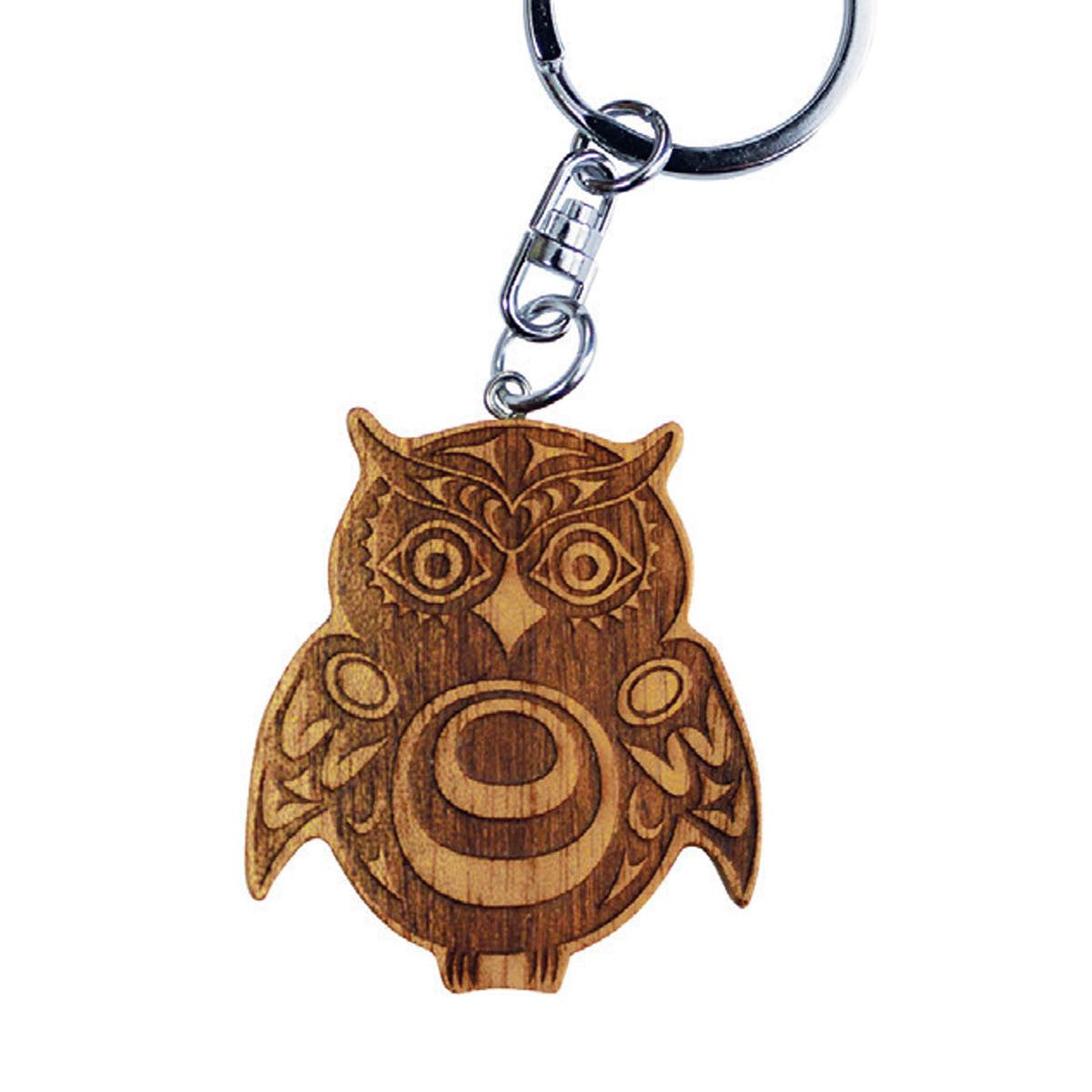 Reclaimed Mahogany Keychain by Simone Diamond, Coast Salish