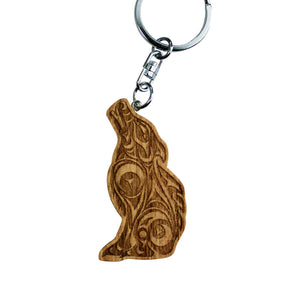 Reclaimed Mahogany Keychain by Darrell Thorne, Coast Salish