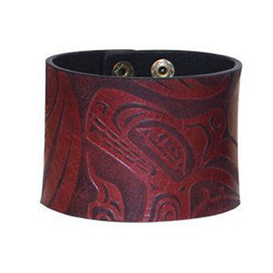 Red Wolf Leather Cuff