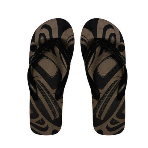 Native Black/Grey Flip Flops