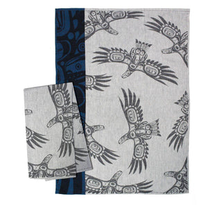 Cotton Jacquard Tea Towel - Soaring Eagle