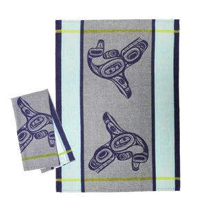 Cotton Jacquard Tea Towel - Whale