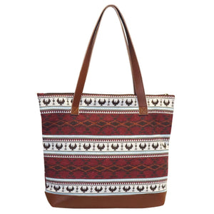 Woven Tote Bag by Leila Stogan, Musqueam/Coast Salish