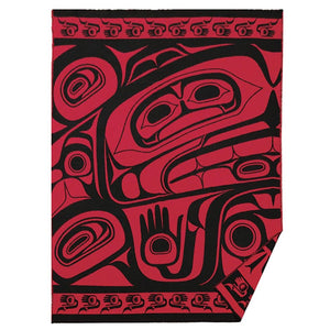 Woven Acrylic Blanket by Donnie Edenshaw, Haida