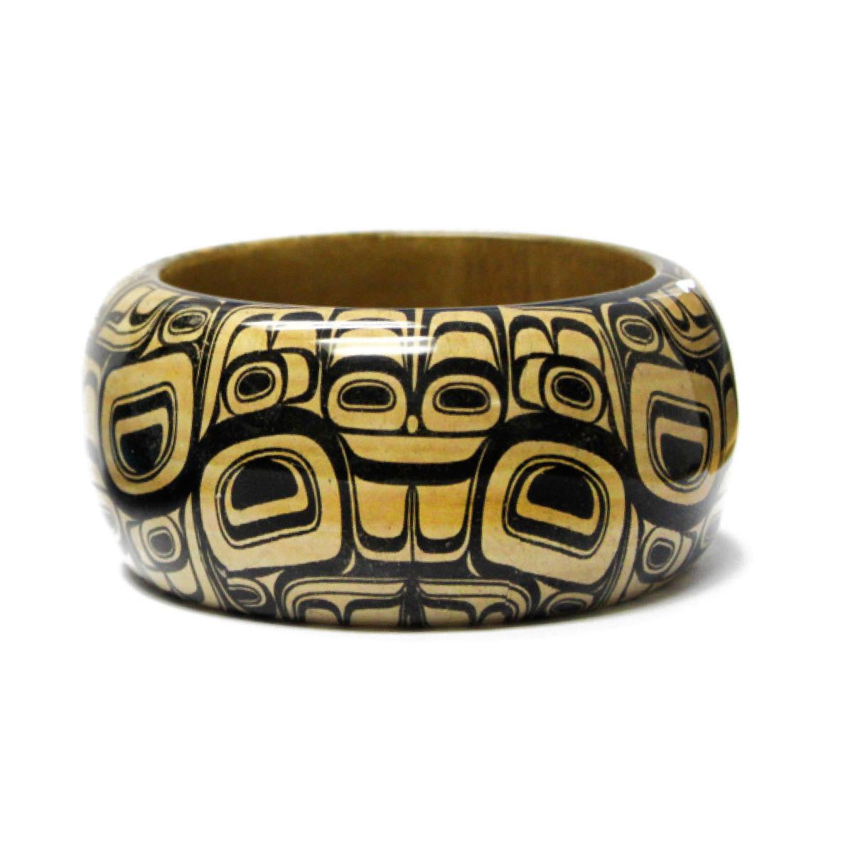 Large Wooden Bangle by Ryan Cranmer, Namgis