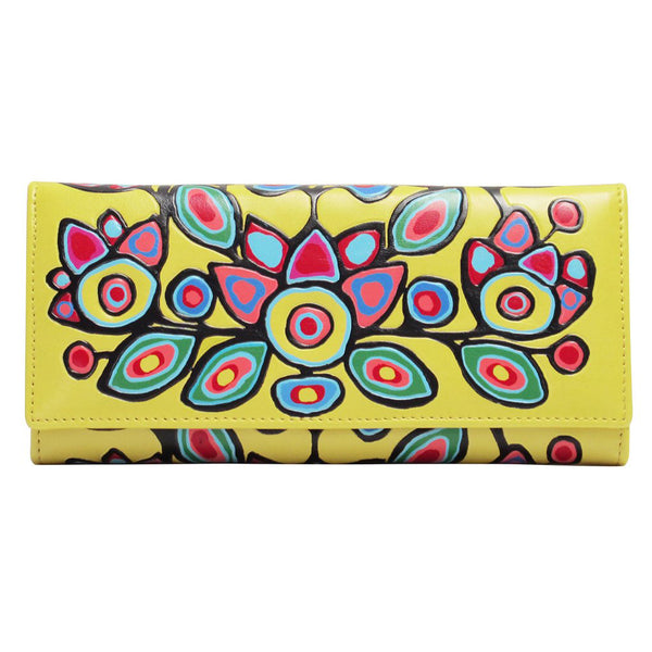 Floral on Yellow - Wallet