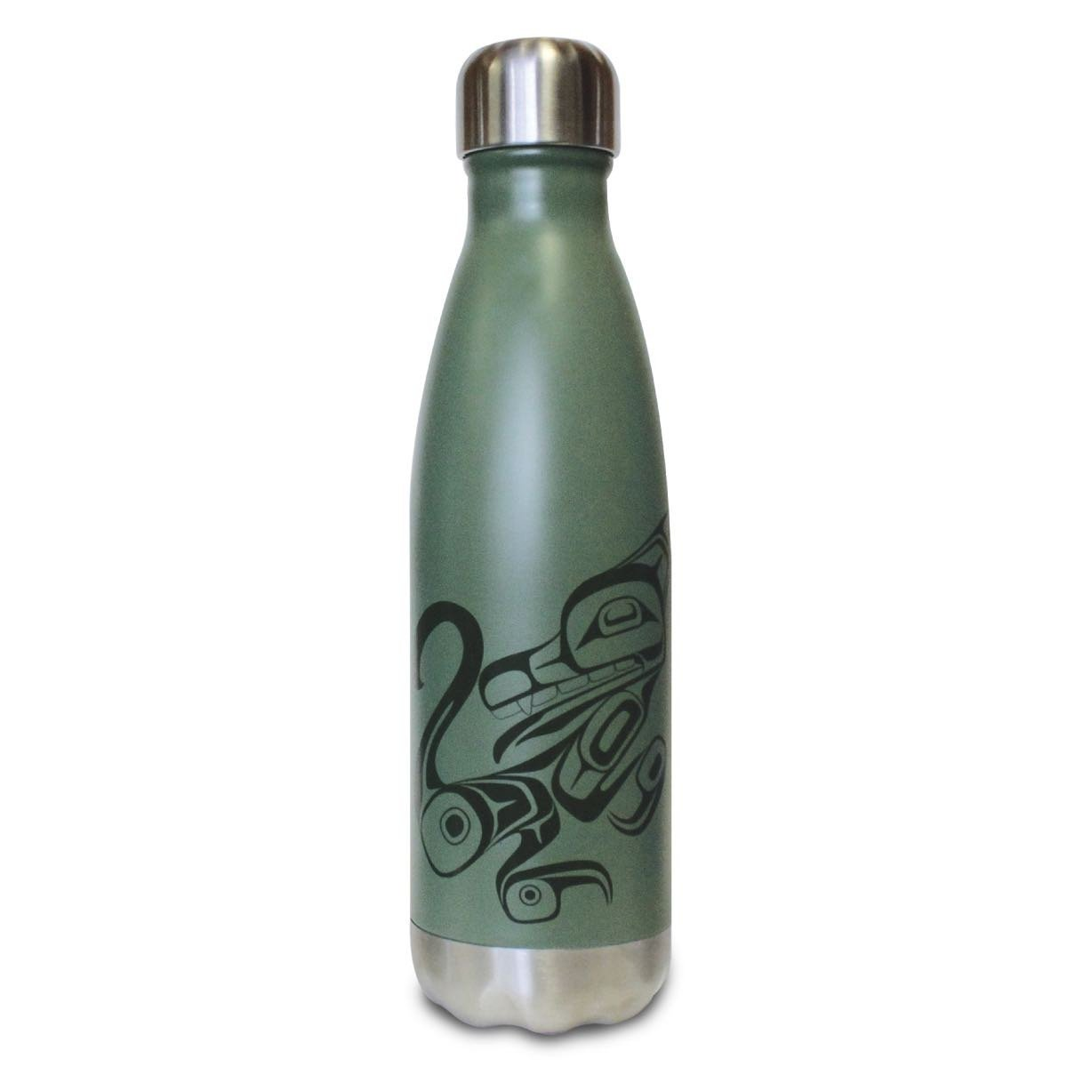 Medium Insulated Stainless Steel Bottle by Phil Gray, Tsimshian