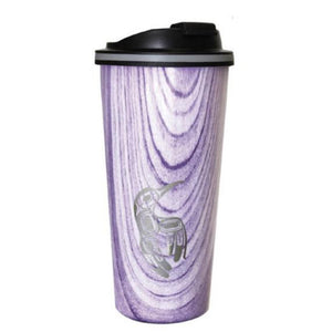 Wood Grain Travel Mug by Gordon White, Haida