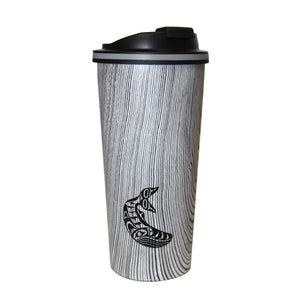 Humpback Whale - Wood Grain Travel Mug