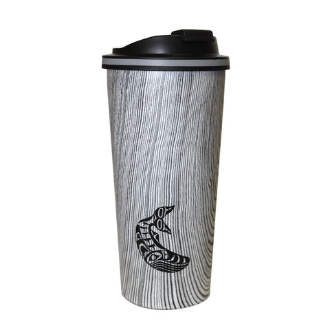 Wood Grain Travel Mug by Ben Houstie, Heiltsuk