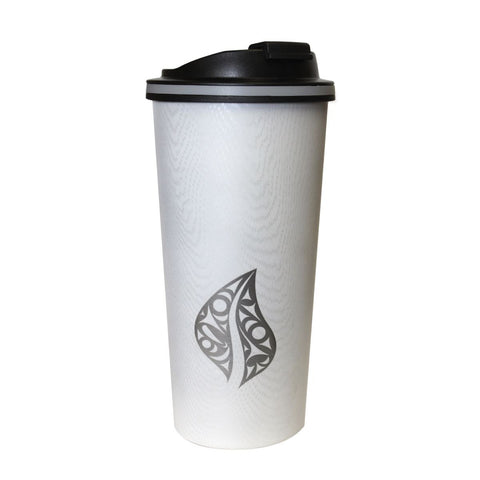 Wood Grain Travel Mug by Dylan Thomas, Coast Salish