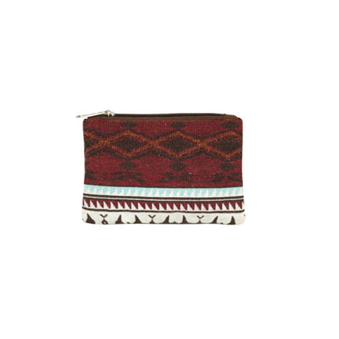 Woven Zipper Pouch by Leila Stogan, Coast Salish/Musqueam