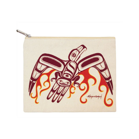 Cotton Canvas Zippered Pouch by Morgan Asoyuf, Tsimshian