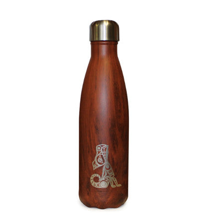 Wolf - Medium Red Wood Grain Bottle