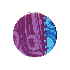 Compact Mirror by Kelly Robinson, Nuxalk/Nuu-chah-nulth