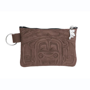 Nubuck Leather Coin Purse by Clifton Fred, Tlingit