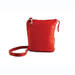 Deerskin Crossbody Bag by Clifton Fred, Tlingit