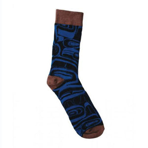 Art Socks by Kelly Robinson, Nuxalk/Nuu-chah-nulth