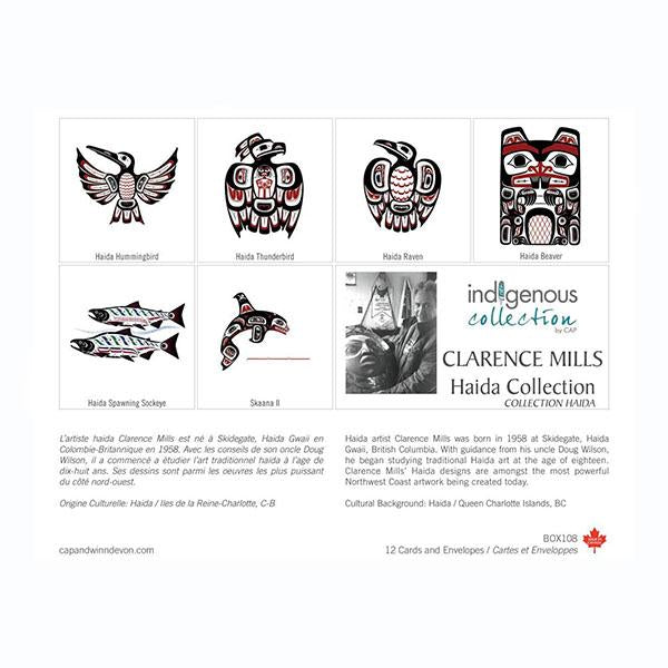 Boxed Set of 12 Note Cards by Clarence Mills, Haida