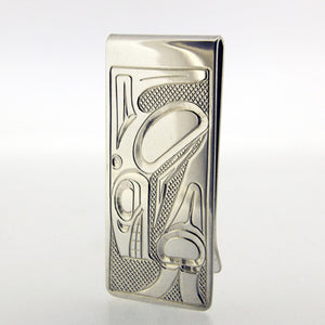 Large Sterling Silver Money Clip by Justin Rivard, Cree