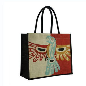 Jute Tote Bag by Bill Helin, Tsimshian