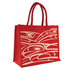 Jute Tote Bag by Connie Dickens, Tsimshian