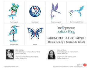 Boxed Set of 12 Note Cards by Pauline Bull & Eric Parnell, Haida