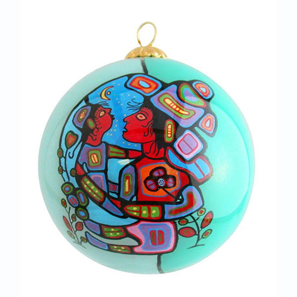 Hand-painted Glass Ornaments by Norval Morrisseau, Ojibway