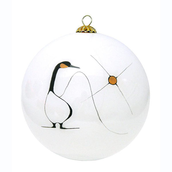 Hand-painted Glass Ornament by Benjamin Chee Chee, Ojibway