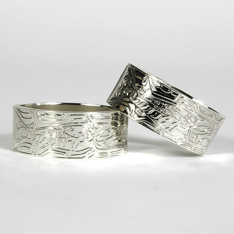 Oval Silver Plated Napkin Rings by Terry Star, Tsimshian