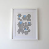 Hexagon Blue Print
